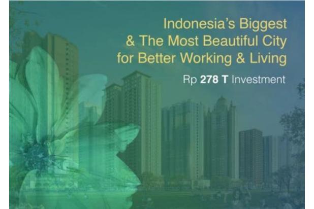 Dijual Apartemen 2BR Murah Modern Strategis di Meikarta Tower 1B Bekasi 13126388