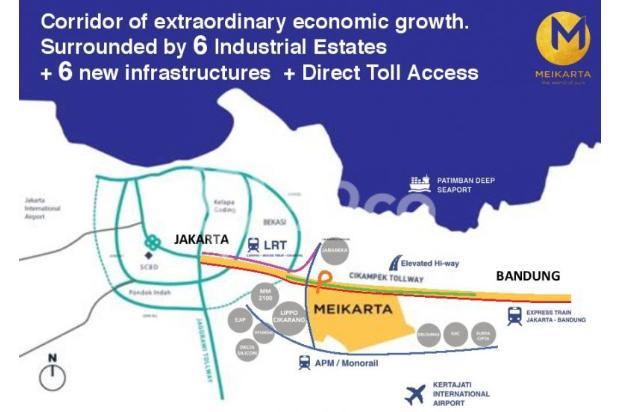 Dijual Apartemen 2BR Murah Modern Strategis di Meikarta Tower 1B Bekasi 13126391