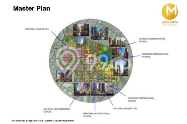 Dijual Apartemen 2BR Murah Modern Strategis di Meikarta Tower 1B Bekasi 13126400