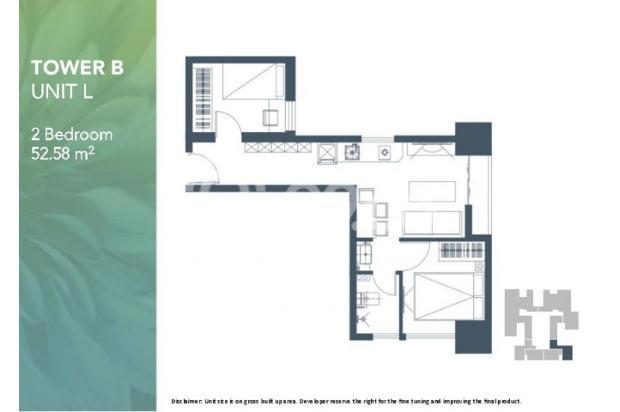 Dijual Apartemen 2BR Murah Modern Strategis di Meikarta Tower 1B Bekasi 13126428