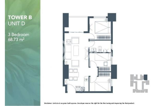 Dijual Apartemen 2BR Murah Modern Strategis di Meikarta Tower 1B Bekasi 13126432