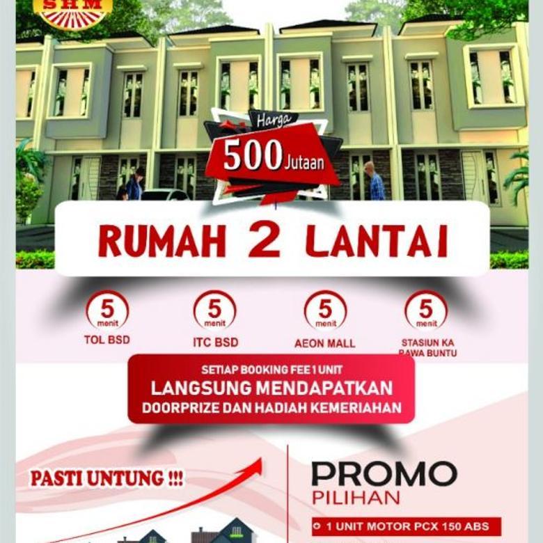 RUMAH 2 LANTAI HARGA 500JUTAAN MASPUTING / BSD / SERPONG / BI