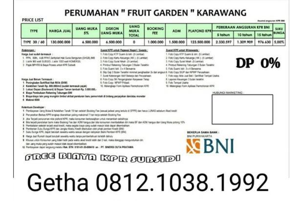 Dijual rumah cluster bersubsidi di karawang 16509805