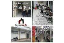 Dijual Gudang Hadap Timur Daerah Mohammad Toha Bandung