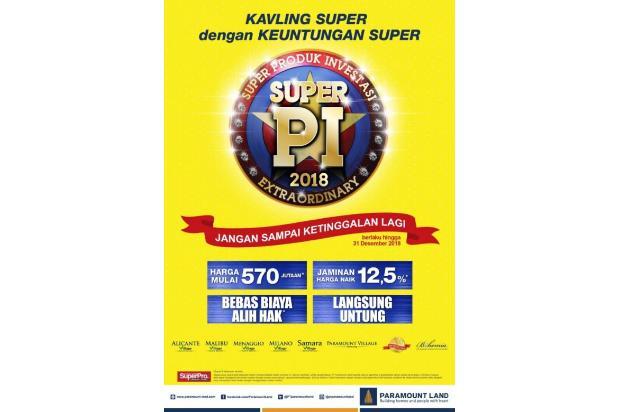 [HOT PROMO] Kavling Investasi SUPER PI @Gading Serpong!DIJAMIN UNTUNG 12,5% 21875633