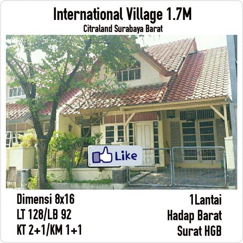 rumah international village citraland murah hitung tanah