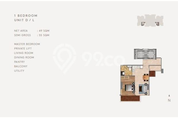 Dijual New Apartemen Clunny Residence, 55m2 @Kebon Jeruk Jakarta Barat 15894515