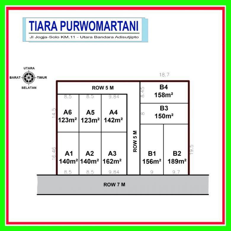 Tanah Kavling Premium Dekat Maguwoharjo, Tepi Jalan Aspal Row