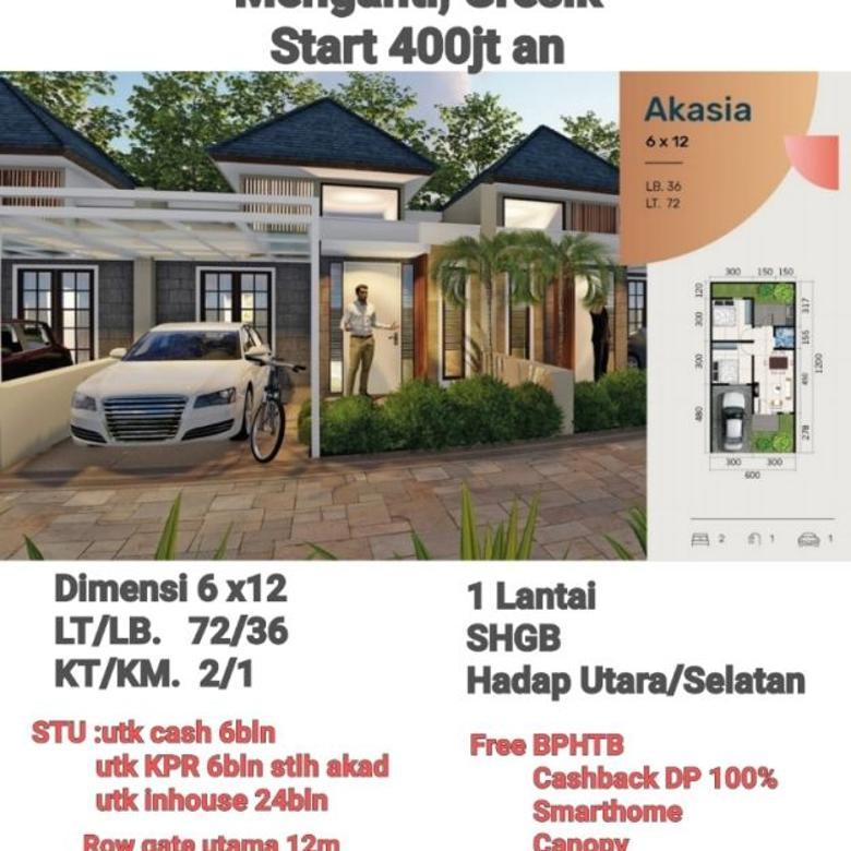 Rumah Smarthome Dekat Pasar Menganti Baratnya Surabaya