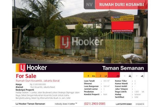 Rumah Duri Kosambi, Jakarta Barat, Brand New, 353m, 1 Lt 5200210