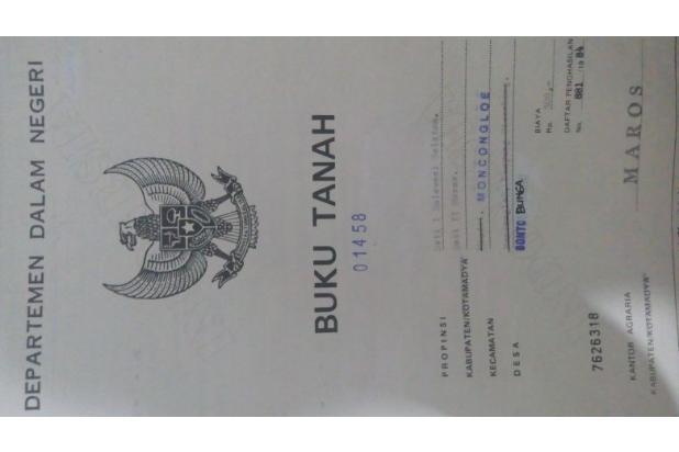 Jual cepat&murah tanah 18300meter di Bonto Bunga-Moncongloe,Maros 16358894