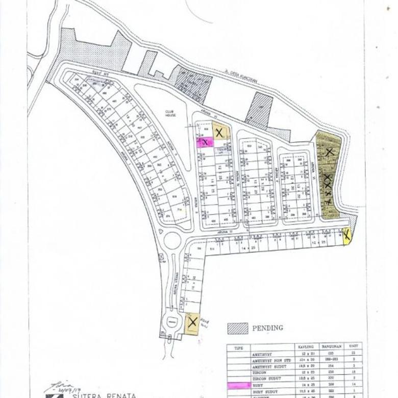 Kavling 769m2 di Sutera Aruna, Lokasi Bagus dan Strategis