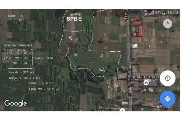 Tanah 7 Petak di Jl. Raya Badung Bali. 9 km arah Ubud , 12 km arah Denpasar 18273210