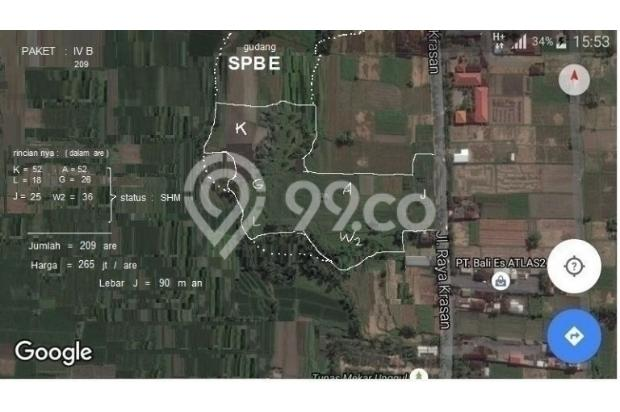 Tanah 7 Petak di Jl. Raya Badung Bali. 9 km arah Ubud , 12 km arah Denpasar 18273211