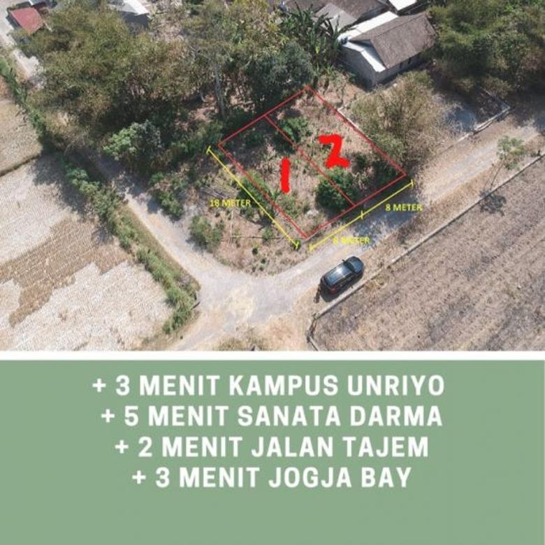 Tanah Pekarangan Cantik Tajem Jogja Dekat Jogjabay Depok