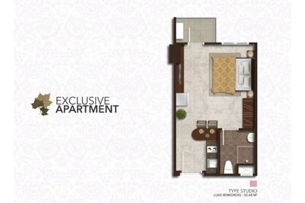 Rp923jt Apartemen Dijual