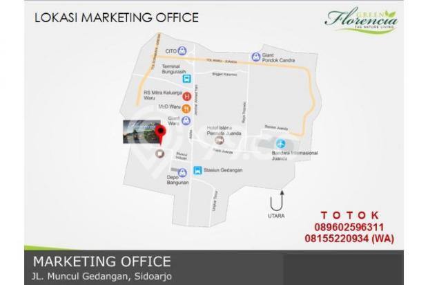 Rumah 3 lantai Green Florencia Aloha Gedangan dekat Bandara Juanda 300 jt * 10001674