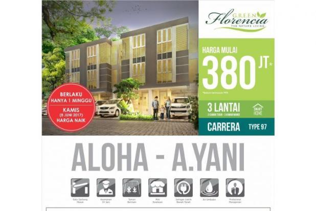 Rumah 3 lantai Green Florencia Aloha Gedangan dekat Bandara Juanda 300 jt * 11894828