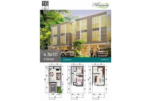 Rumah 3 lantai Green Florencia Aloha Gedangan dekat Bandara Juanda 300 jt * 12526256