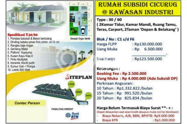 Rumah Murah Subsidi Double Dinding Di Cicurug Sukabumi 17698628
