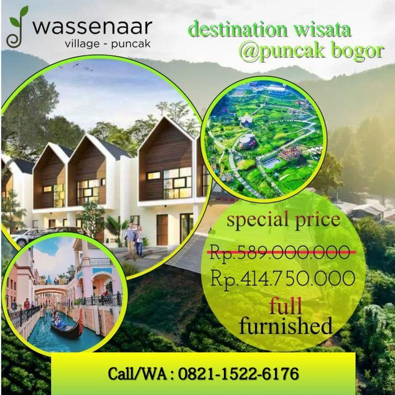 Dijual Villa Nuansa Alam View Perkebunan Teh & Gunung Gede