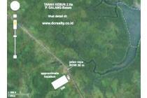 TANAH KEBUN TEPI JALAN ROW 100 M DI REMPANG BATAM DIJUAL
