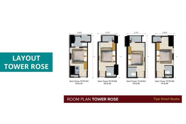 Rp672jt Apartemen Dijual