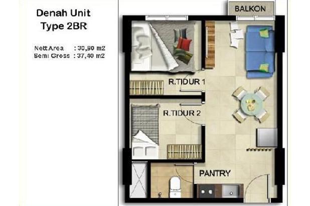Rp235jt Apartemen Dijual