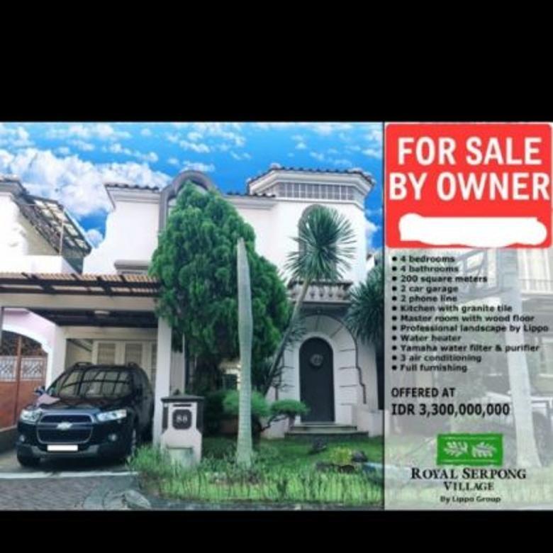 Rumah Royal Serpong Village BSD,full furnish,harga 3,3Milyar