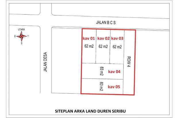 Tanah Kapling Duren Seribu, Cash Tempo 12 X Tanpa Bunga 16577308