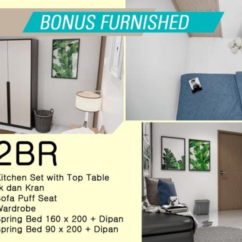 Hunian 2 kamar tidur angs 2jt/bln bonus Furnish bisa buat Investasi