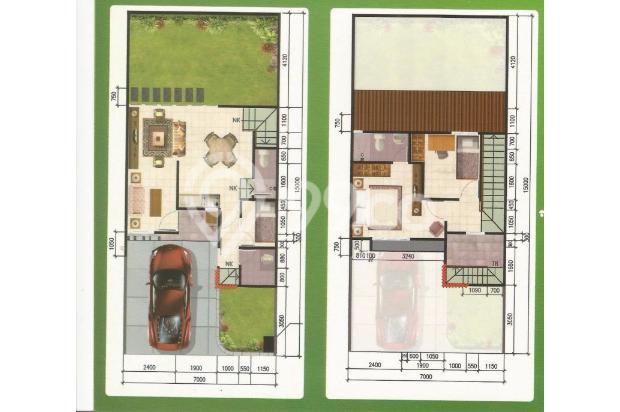 Rumah 2 Lantai Berfasilitas Kolam Renang Bonus Kitchen Set 13425643