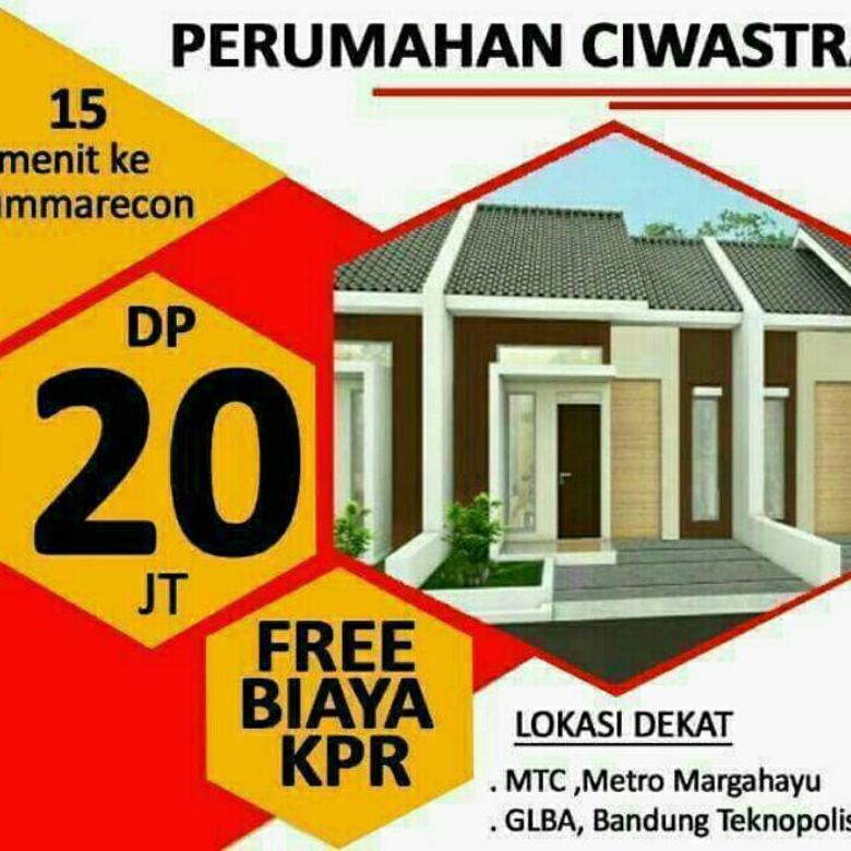 rumah baru DP 20jtallin Free biaya Kpr Notaris imb sayap summarecon,