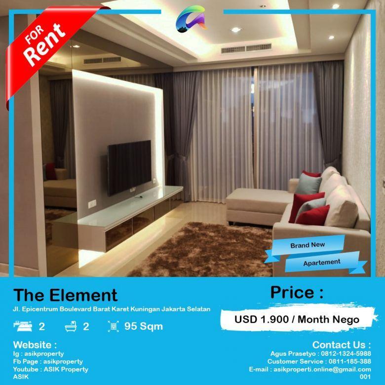 Disewa Apartemen Baru Luxurious 2 Br di The Elements
