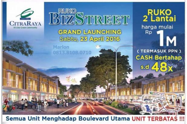 Ruko BizStreet Villaggio Citra Raya Tangerang. Harga Perdana 6882937
