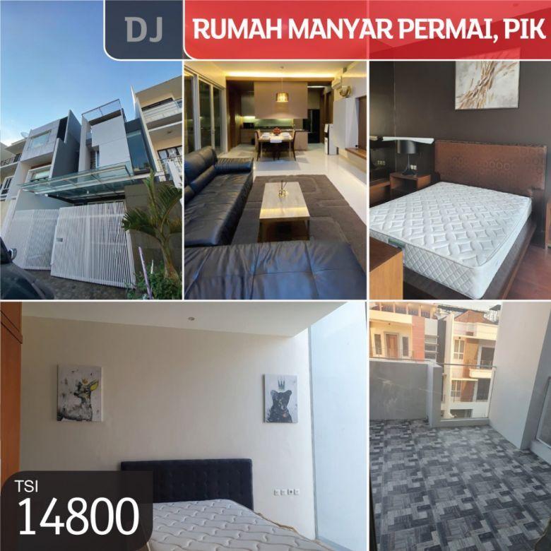 Rumah Manyar Permai, Pantai Indah Kapuk, Jakarta Utara, 7x17m,