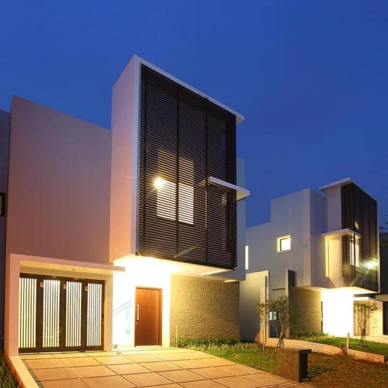 Rumah Modern minimalis di kawasan paling rindang di BSD
