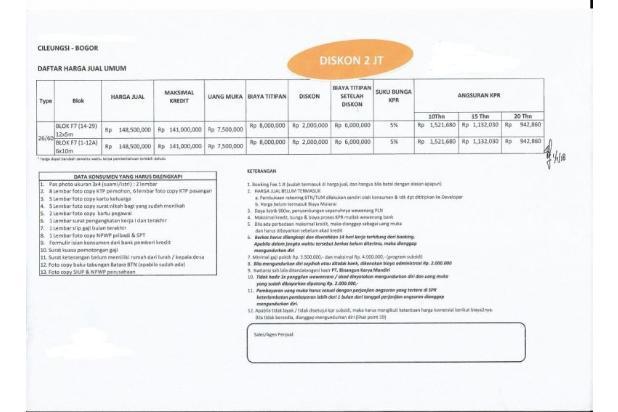 Rusub Cilengsi Dp dan cicilan murah (Dp dapat dicicil) 15893249