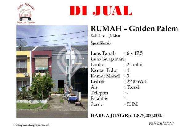 Dijual rumah di Golden Palem, Kalideres 15516149