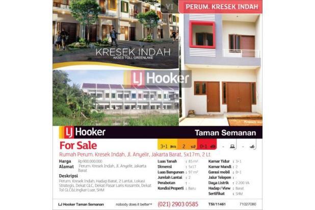 Rumah Perum. Kresek Indah, Jl. Anyelir, Jakarta Barat, 5x17m, 2 Lt 12900698