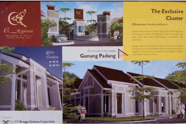 Rumah murah di Cikancana Residence Cianjur jalur wisata gunung padang 15145158