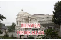 RUMAH MEWAH LUX FULLY FURNISH BERGAYA EROPA DI BILLYMOON PONDOK KELAPA JAKARTA TIMUR