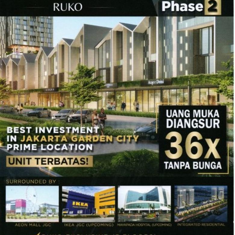 Ruko Unit Terbatas! New East Tahap 2, Jakarta Garden City