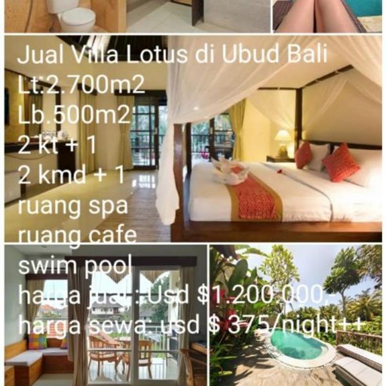 Dijual Villa Lotus di Ubud Bali