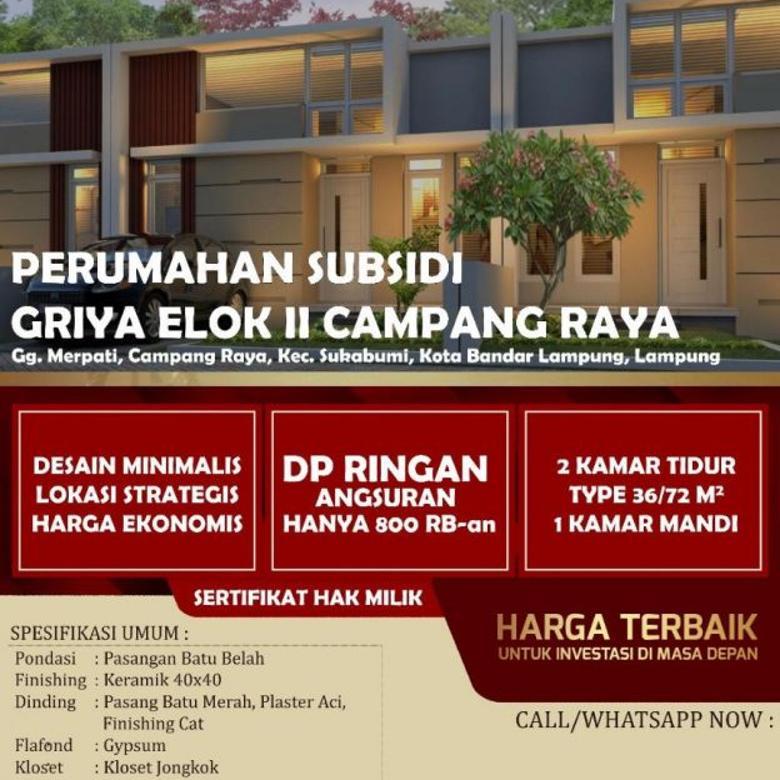 Dijual Rumah Minimalis Bersubsidi Kota Bandar Lampung