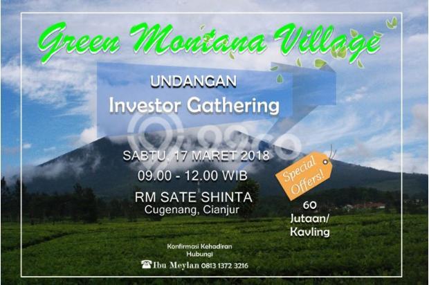 Investasi Kavling Villa Puncak Cipanas, Green Montana Village 16223952