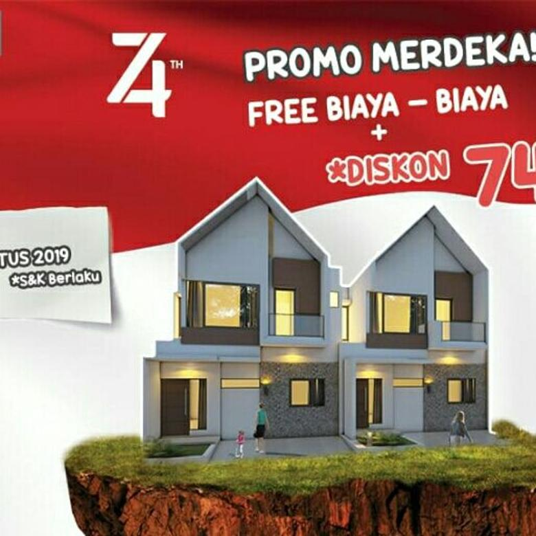 Rumah 2 lt DP 50 juta, bebas biaya2 , dekat jalan raya Ciracas