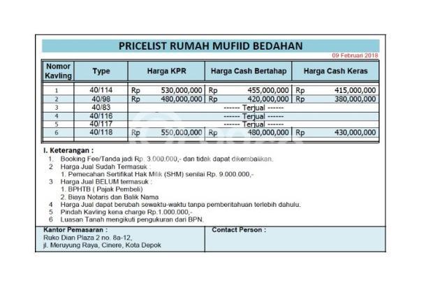 Cluster Green Melati Bedahan: Cuma 500Jtaan Bs KPR DP0% 15896698