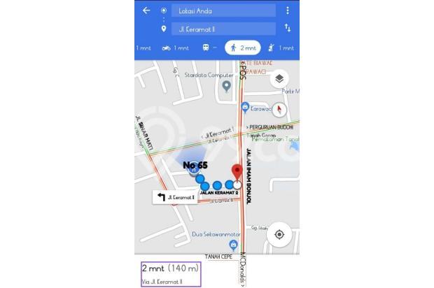 Google Maps : Jalan Keramat II, Imam Bonjol Karawaci Tangerang 18313998