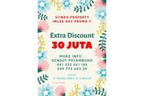 Wow !! Extra Discount 30 JUTA di lokasi TERBAIK di Madiun Jl.Salak III